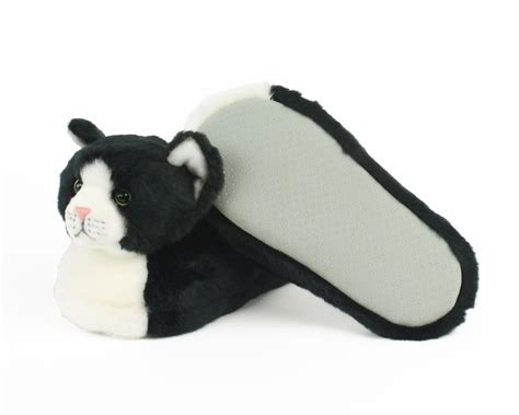 children s animal slippers black and white slippers cat slippers