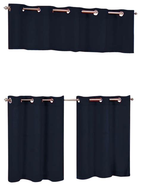 cafe curtains with grommets lorraine home fashions jackson grommet top cafe curtain