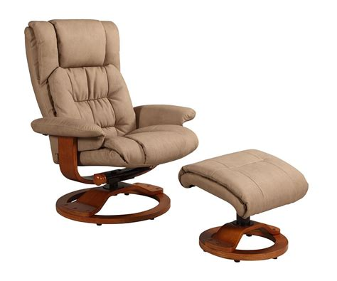euro chair with ottoman vinci euro recliner and ottoman in stone nubuck bonded