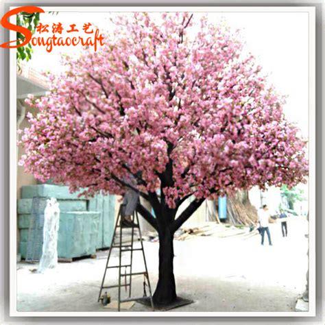 Paket Daun Bunga Dekorasi Daun Bunga Buatan 2 pohon palsu luar buatan pohon cherry blossom pohon