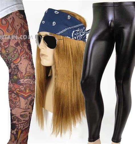 tattoo girl costume deluxe heavy metal rocker axl rose guns n roses wig pants
