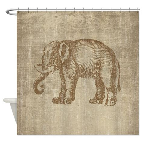 elephant shower curtain vintage elephant shower curtain by esangha