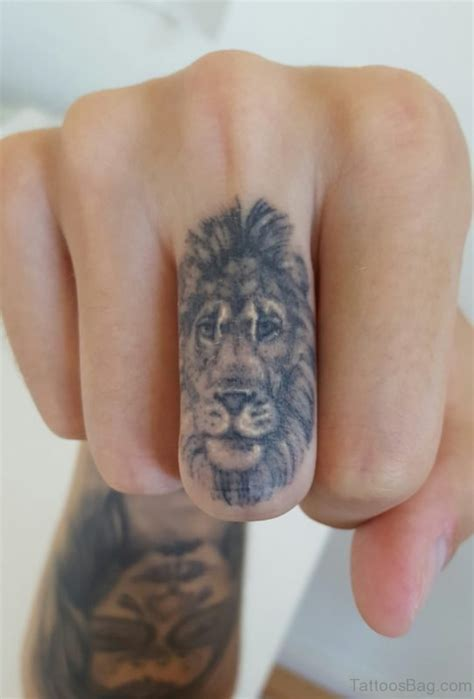 lion tattoo on finger 36 remarkable tiger tattoos on finger