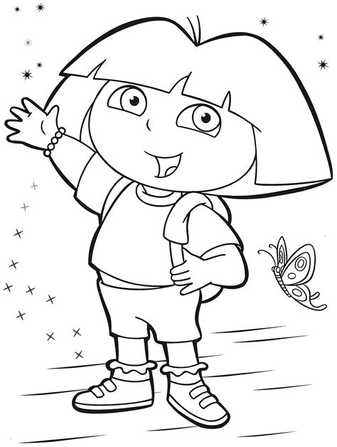 Dora The Explorer Mermaid Coloring Pages Coloring Pages Coloring Pages The Explorer