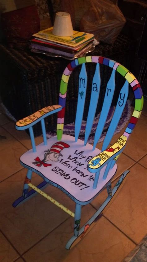 personalized childrens furniture childs rocking chair custom painted dr suess diy home