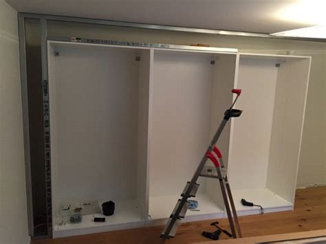 Secure Wardrobe To Wall by Built In Pax Using Wall Technique Ikea Hackers