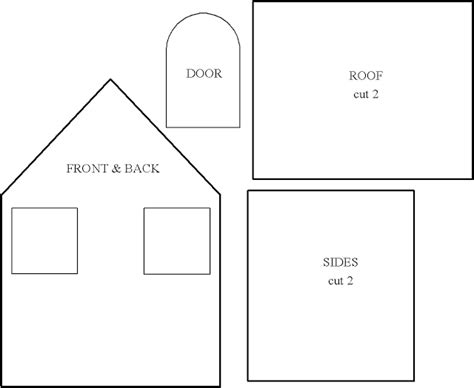 printable house templates cart before the horse little houses for you and me