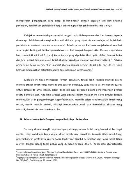 membuat artikel kegiatan strategi menulis artikel untuk jurnal ilmiah nasional