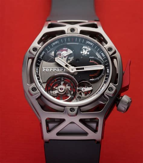 Ferrari Chronograph by Hublot And Ferrari Present Techframe Ferrari Chronograph