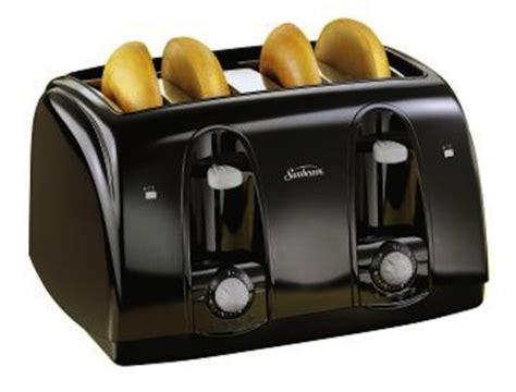 Best 4 Slot Toaster Sunbeam 3911 4 Slice Wide Slot Toaster Black 885223960429