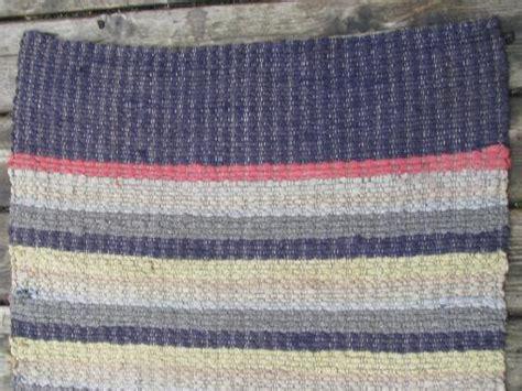Cotton Throw Rugs Kitchen by Primitive Antique Cotton Rag Rug Vintage Kitchen Or Door