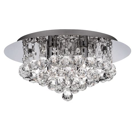 4 ceiling lights searchlight 3404 4cc hanna 4 light crystal flush ceiling