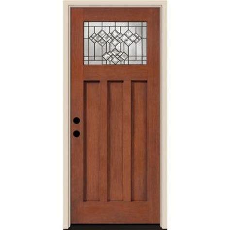 Belmont Door by Tru Tech Belmont Craftsman Rosedale Oak Finish Fiberglass