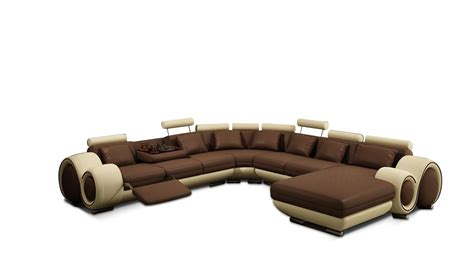 beige sectional sofa 4084 contemporary brown and beige leather sectional sofa