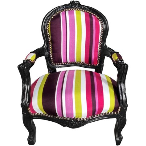 striped fabric armchairs baroque armchair for child fabric multicolor striped with