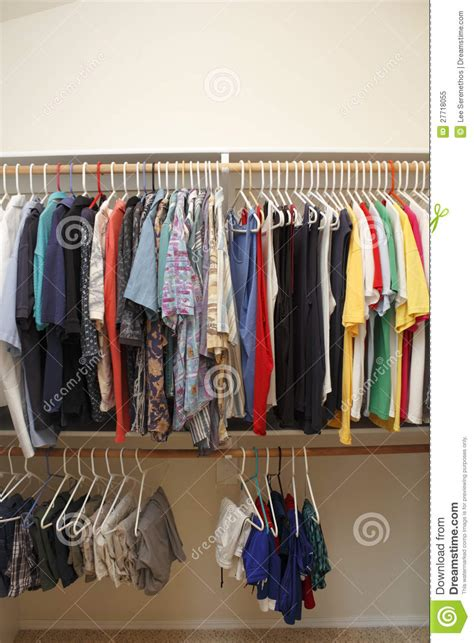 What Of Clothes Does Platos Closet Accept by S Clothes In A Closet Royalty Free Stock Photo Image 27718055