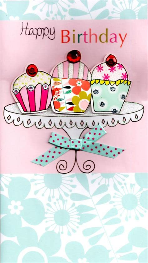 pretty birthday images cupcakes pretty happy birthday greeting card cards