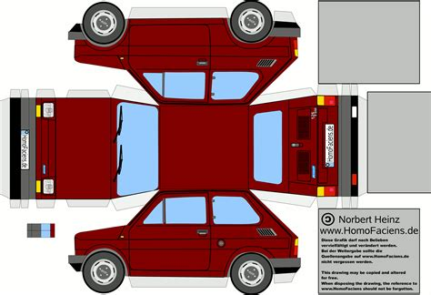 Papercraft Vehicles - homofaciens downloads