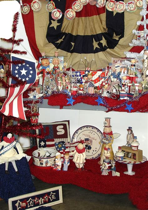 Eagle Decor Lots Of Patriotic Decor We Just Love Bunting To Backdrop