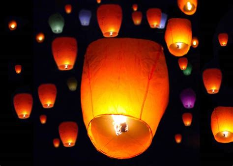 Paper Lanterns That Fly - lot 50 white paper lanterns sky fly candle
