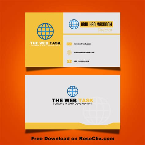 business cards templates free for photoshop modern business card design templates in photoshop