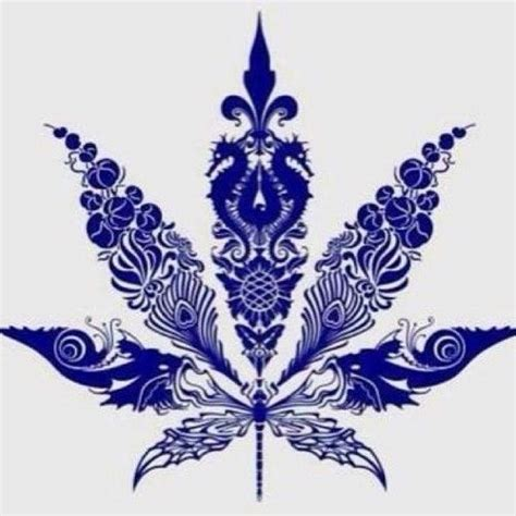weed leaf tattoo ganja leaf tribal ganja