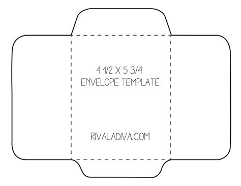 Envelope Template Envelope Template For 8 5 X 11 Paper Diy Envelope Projects And Inspiration Card Envelope Template