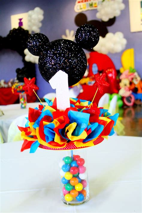 mickey mouse club house centerpieces made by me