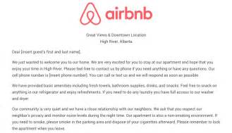 Airbnb Cover Letter by The Airbnb Welcome Letter Template As Airbnb