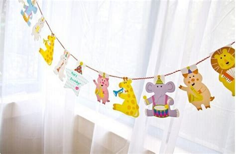 Acessories Terlaris Banner Flag Bunting Flag Animal Shape animals bunting string flags birthday decoration baby shower themed wall