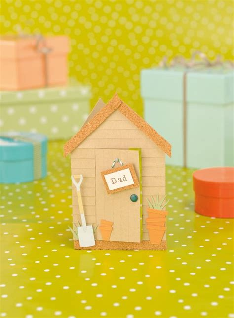 make a garden shed card for s day free template