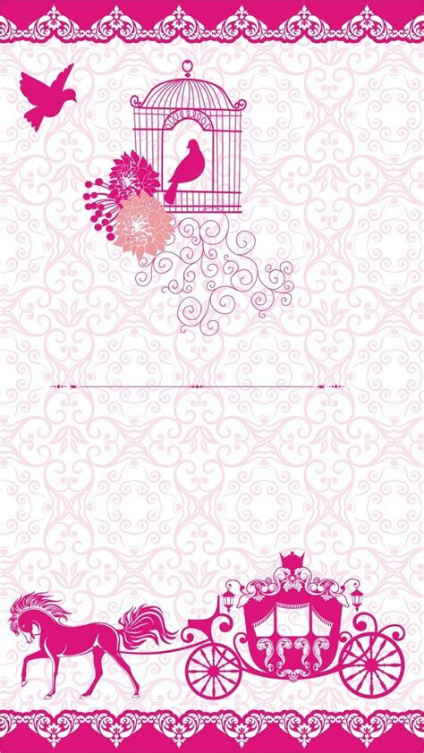 Simple Wedding Invitation Card by H5 Simple Wedding Invitation Vector Background Material