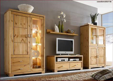 wohnzimmermöbel massivholz massivholz wohnwand gro 223 highboard vitrine lowboard
