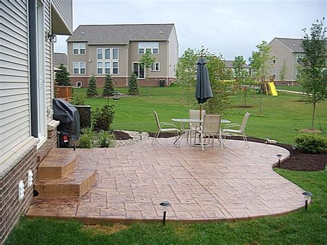 simple patios simple concrete patio raised