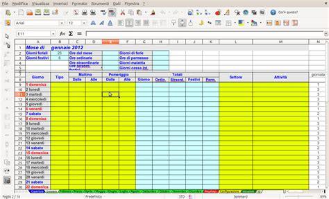 lavori in casa orari openoffice libreoffice il controllo delle ore lavorate