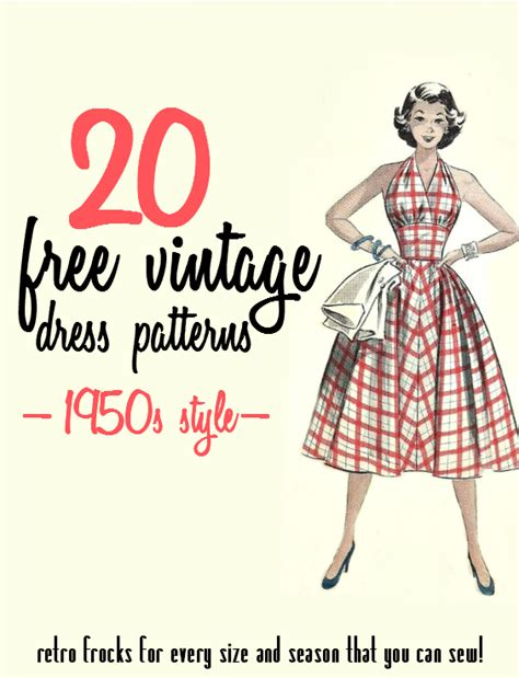 dress pattern books free download 20 free 1950s style dress patterns va voom vintage