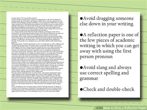 How To Make A Reflection Paper - how to write a reflection paper 14 steps with pictures