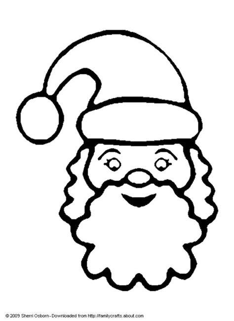 coloring page santa face santa claus face with no beard coloring page coloring home