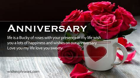 Wedding Anniversary Wishes Words by Happy Wedding Anniversary Wishes For Anniversary Quotes