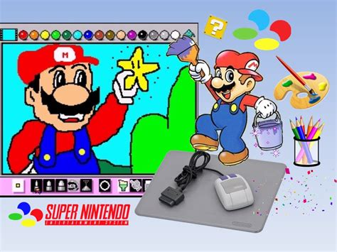 mario painting snes mario paint drawing mario