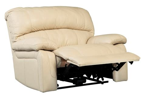 wide recliner sale damacio cream zero wall power wide recliner from ashley