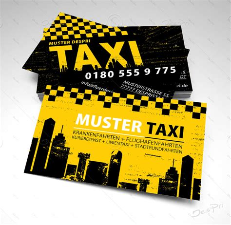 Visitenkarten Taxi by Taxi Visitenkarten Design Vk016 F 252 R Despri De Design