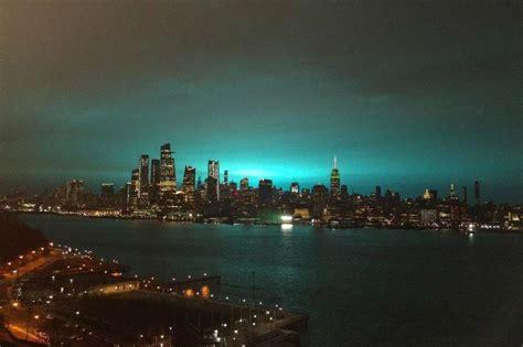 york power plant explosion turns night sky  city