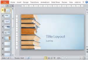 powerpoint templates books blue bookstack educational powerpoint template