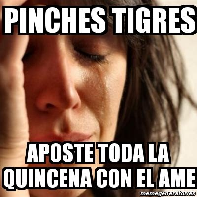 Pinches Memes - meme problems pinches tigres aposte toda la quincena con