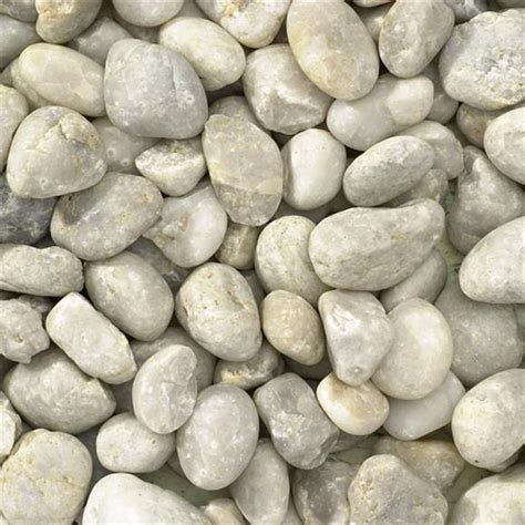 western white pebble 30 40mm decorative gravel and pebbles