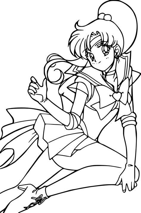 Sailor Jupiter coloring page