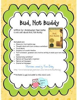 themes of the book bud not buddy 17 best images about bud not buddy novel study on
