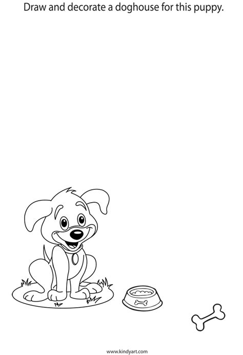 how to draw a dog house how to draw dog house
