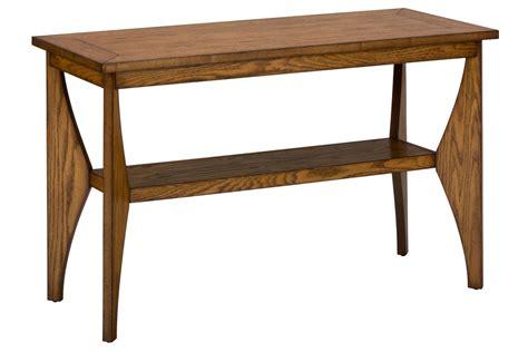 honey oak sofa table